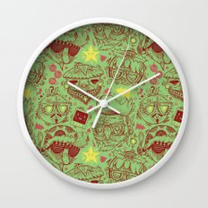 Have a Hipster Christmas! Wall Clock
