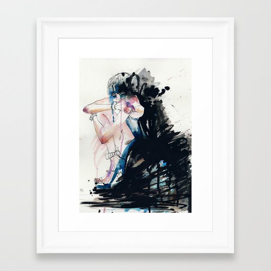 Fear Framed Art Print