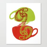 Coffee And Tea Time Canvas Print