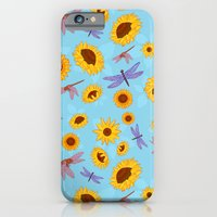 Sunflowers & Dragonflies iPhone 6 Slim Case