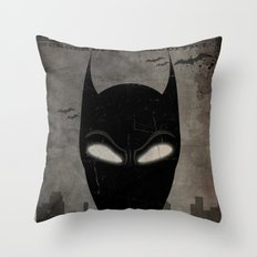 WANTED: Masked Vigilante Throw Pillow