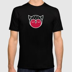 Owl Pattern Mens Fitted Tee SMALL Black