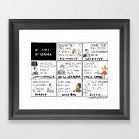 8 Types of Leader Framed Art Print