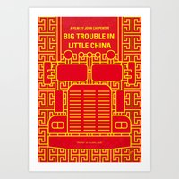 No515 My Big Trouble Little China minimal movie poster Art Print