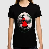 The wind is coming Womens Fitted Tee Black SMALL
