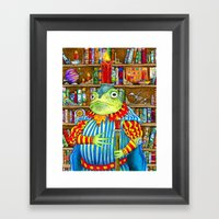 Rozologue Bagumphious, Librarian-King of the Candletoads Framed Art Print