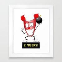 Zany Zinger T-Shirt Alternate Framed Art Print