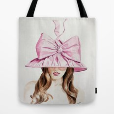 Pink Derby Hat Tote Bag