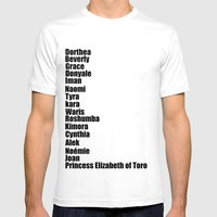 Black Fashion Mens Fitted Tee White SMALL