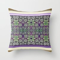 Edwardian Garden Throw Pillow