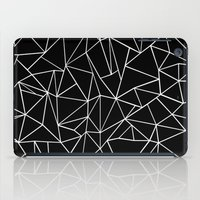 Abstraction Outline Blac… iPad Case