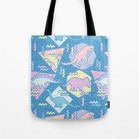 Nineties Dinosaurs Patte… Tote Bag