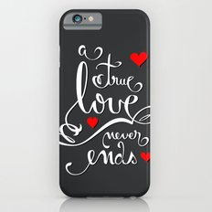 Valentine Love Calligraphy and Hearts V2 Slim Case iPhone 6s