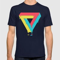 Mixed up Mens Fitted Tee Navy SMALL