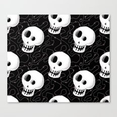 Skull With Fly Trails Canvas Print