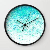sparkling mint Wall Clock