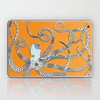Orange Octopus Laptop & iPad Skin