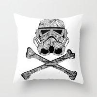 Skulltrooper Throw Pillow