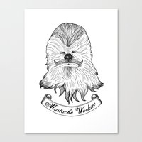 Mustache Wookiee Canvas Print