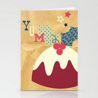 Yummy Christmas Pudding! Stationery Cards