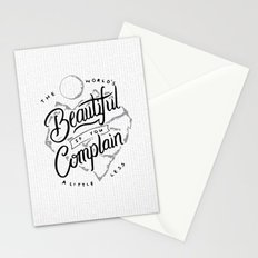 The World's Beautiful If You Complain A Little Less Stationery Cards