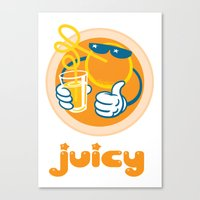 Juicy Orange Canvas Print