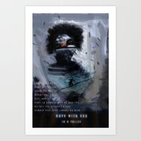 Navy with you Art Print
