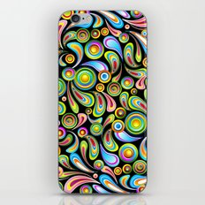 Psychedelic Color Drops Abstract Art Design iPhone & iPod Skin