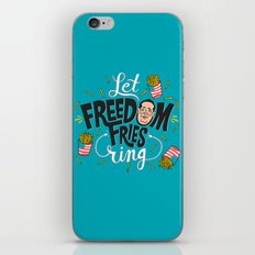 Let Freedom Fries Ring iPhone & iPod Skin