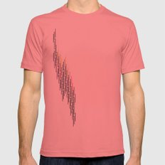 glitch Mens Fitted Tee Pomegranate SMALL