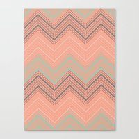 Soft Chevron Canvas Print