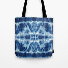 Tie Dye Blues Twos Tote Bag