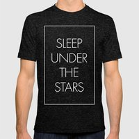 Sleep Under The Stars Mens Fitted Tee Tri-Black SMALL