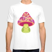 Mrs. Shroom Mens Fitted Tee White SMALL