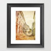 The Stroller Framed Art Print