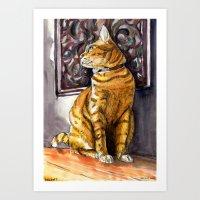Cat Charlie Art Print