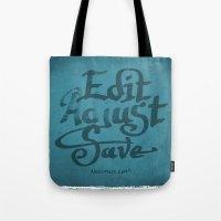 Handwriting: Edit Adjust Save Tote Bag