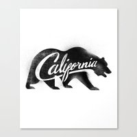 California Bear Stamp Canvas Print