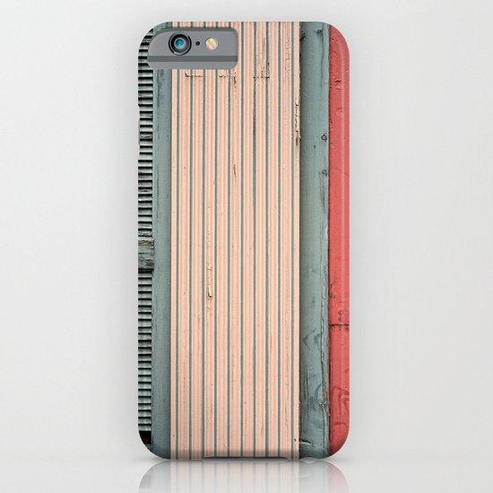 Teal shutter, coral door iPhone & iPod Case