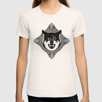 Wolf Womens Fitted Tee Natural SMALL