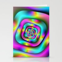 Psychedelic Tunnel Stationery Cards
