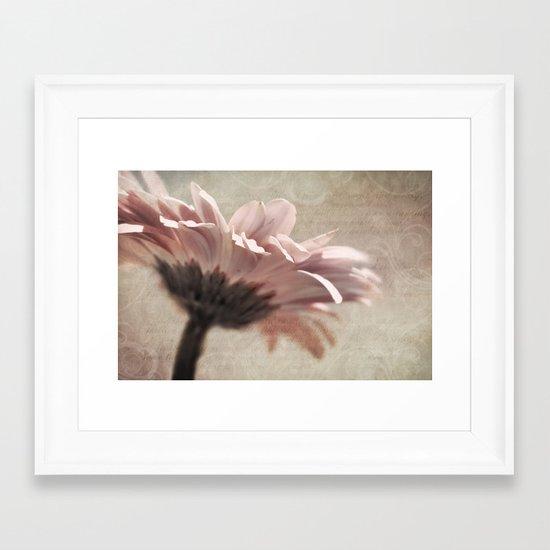 FLORAL POETRY Framed Art Print
