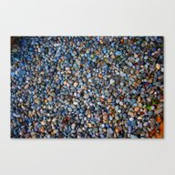 Blue Pebble Texture Canvas Print