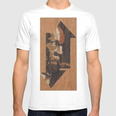 One up One Down Mens Fitted Tee SMALL White
