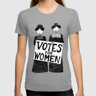 Votes For Women Womens Fitted Tee Tri-Grey SMALL