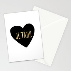 je t'aime x heart Stationery Cards