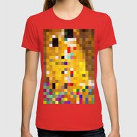 mosaic Womens Fitted Tee Red SMALL