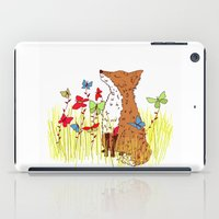 Little Fox In A Butterfl… iPad Case