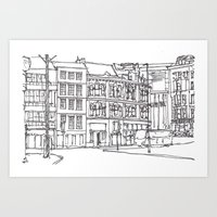 Sandhill, Newcastle Upon Tyne Art Print