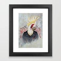 ROCK & ROLL BIRD!! Framed Art Print